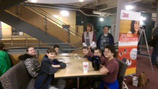 The Math Counts Team at their competition.