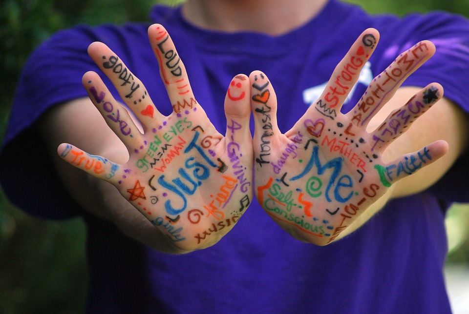 Expression+Words+Meaning+Fingers+Colorful+Hands