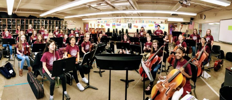 This is the full Cherokee Middle School seventh grade string orchestra.