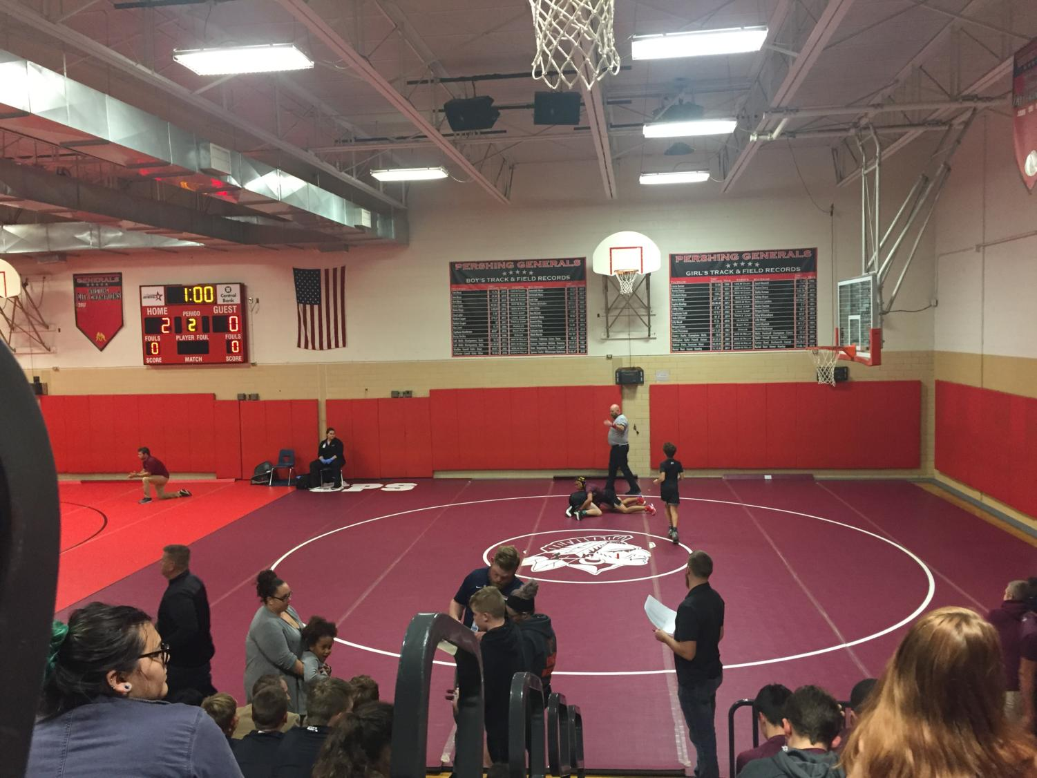 Wrestling Meet Cherokee vs Pershing vs Westport